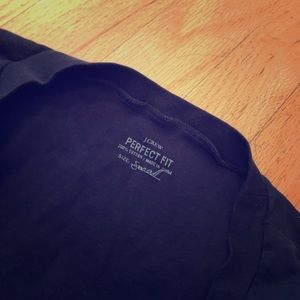 J.Crew Women's perfect fit shirt navy size small